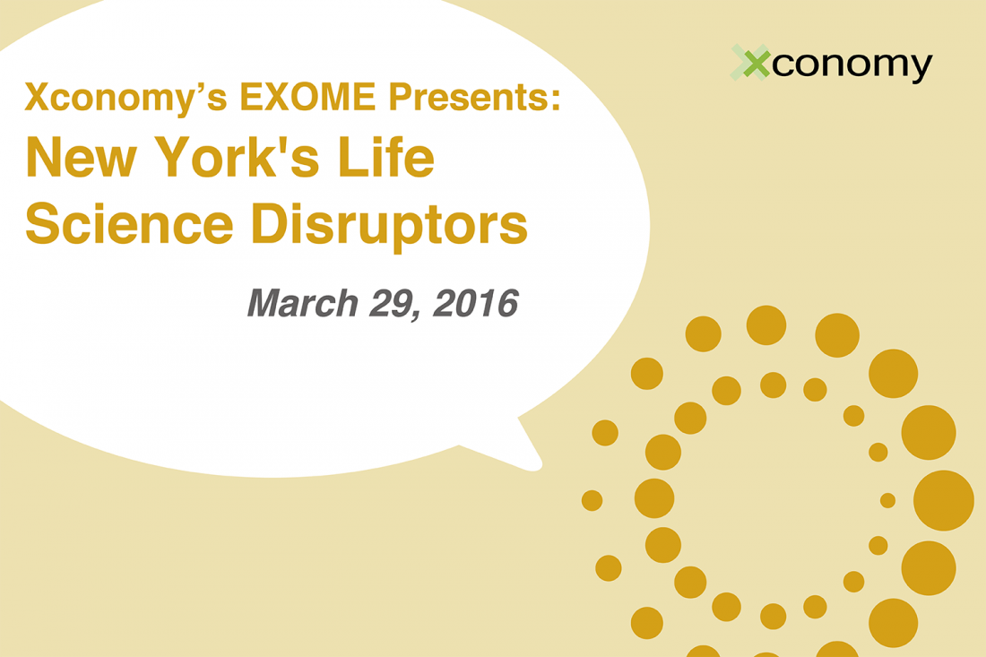 New York's Life Science Disruptors on March 29: Here's the Agenda