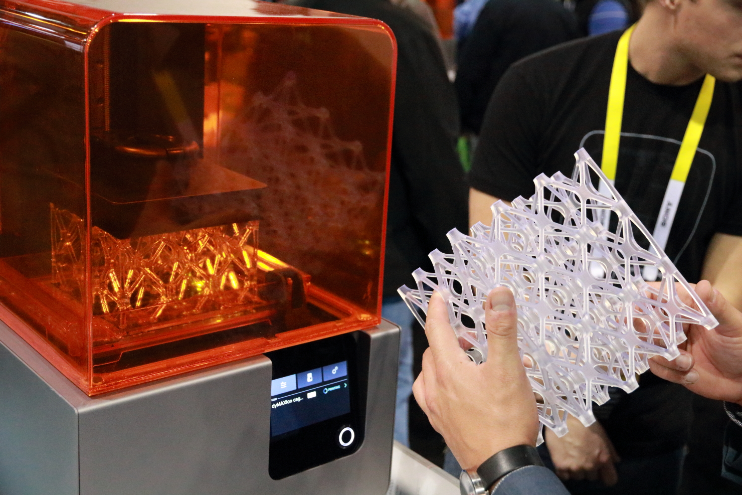 Rival 3D printing companies, such as Formlabs and its Form 2 desktop printer, were out in force at CES. (photo by João-Pierre S. Ruth)