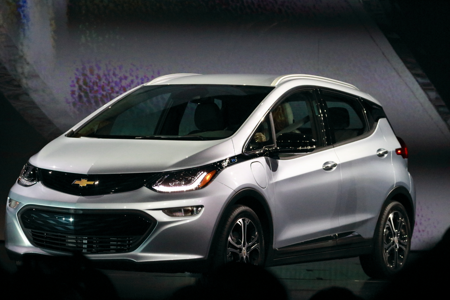 The Chevrolet Bolt EV, an all-electric car introduced at CES 2016. (photo by João-Pierre S. Ruth)
