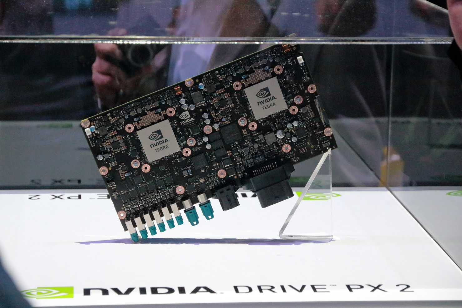 Nvidia's Drive PX2 is being eyed by several carmakers for their autonomous vehicles. (photo by João-Pierre S. Ruth)