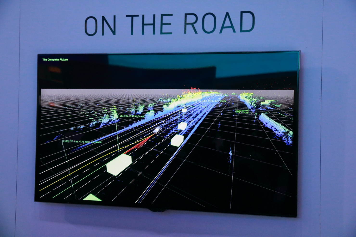 With the help of sensors, the Nvidia PX2 sees the road as data and reacts to it. (photo by João-Pierre S. Ruth)