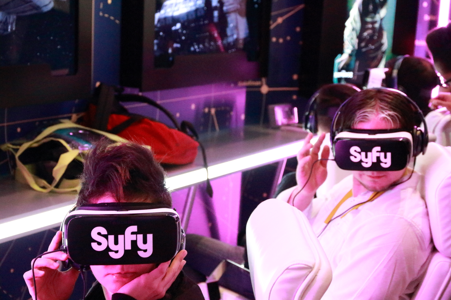 If watching The Expanse on TV is not enough, fans can get a virtual reality taste of the spaceships. (photo by Joao-Pierre S. Ruth)