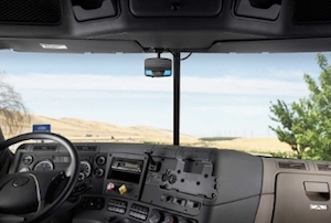 DriveCam in truck windshield