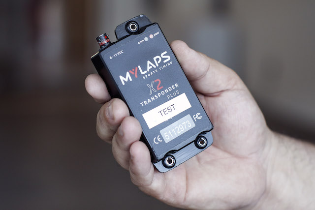 """Transponders placed on the cars relay location and speed information as the cars cross 36 """"timelines"""" imbedded into the legendary track. (Image: Verizon)"""