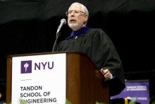 Steve Blank Hails NYU Engineering Grads, Talks Building Businesses