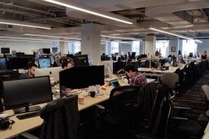 Localytics moved into a new office overlooking Boston's City Hall Plaza.