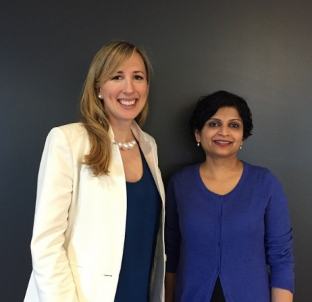 Integris co-founders Kristina Bergman and Uma Raghavan. Photo courtesy of Integris