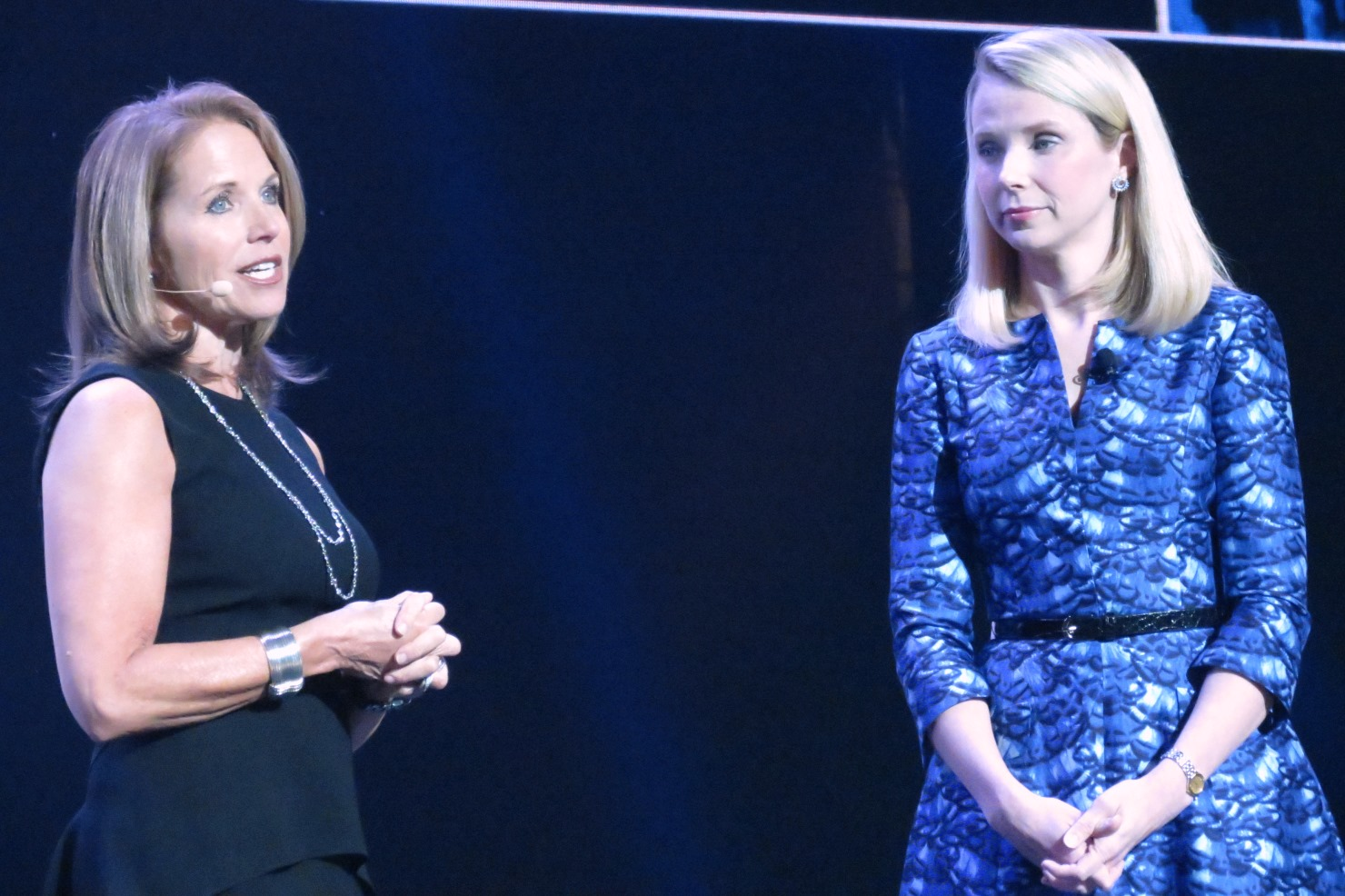 Katie Couric (l) and Marissa Mayer (r) at CES 2014 (photo by Joao-Pierre S. Ruth)