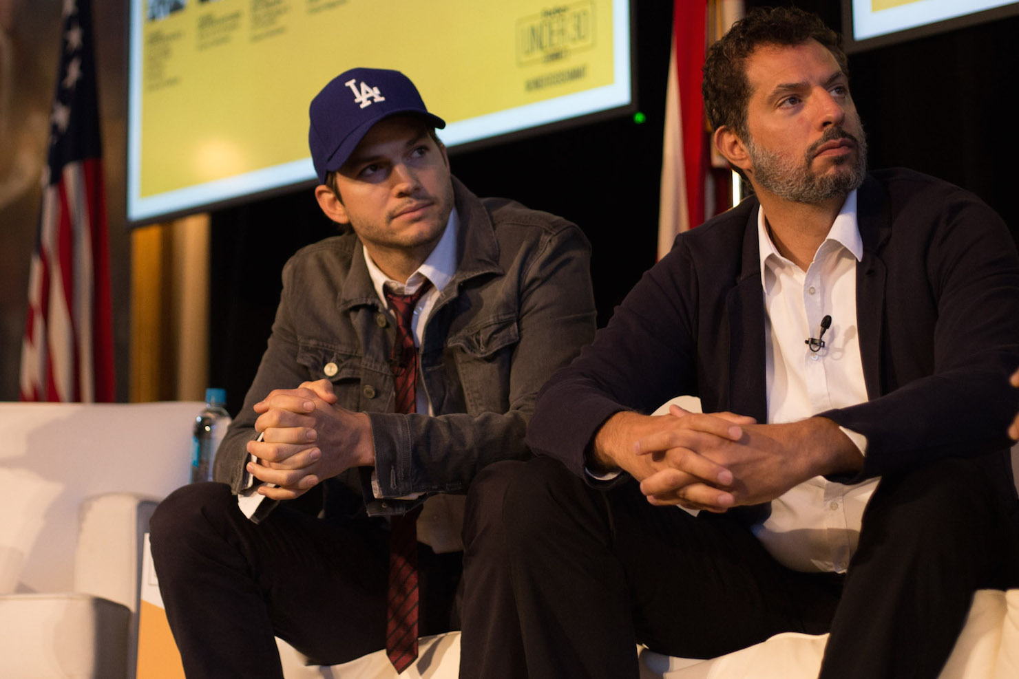 Ashton Kutcher Guy Oseary Forbes Summit Boston