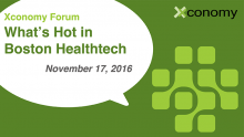 Last Chance Special for What's Hot in Boston Healthtech