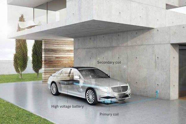 Mercedes wireless charging system