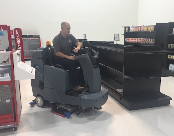 John Black trains self-driving system of floor-scrubbing machine
