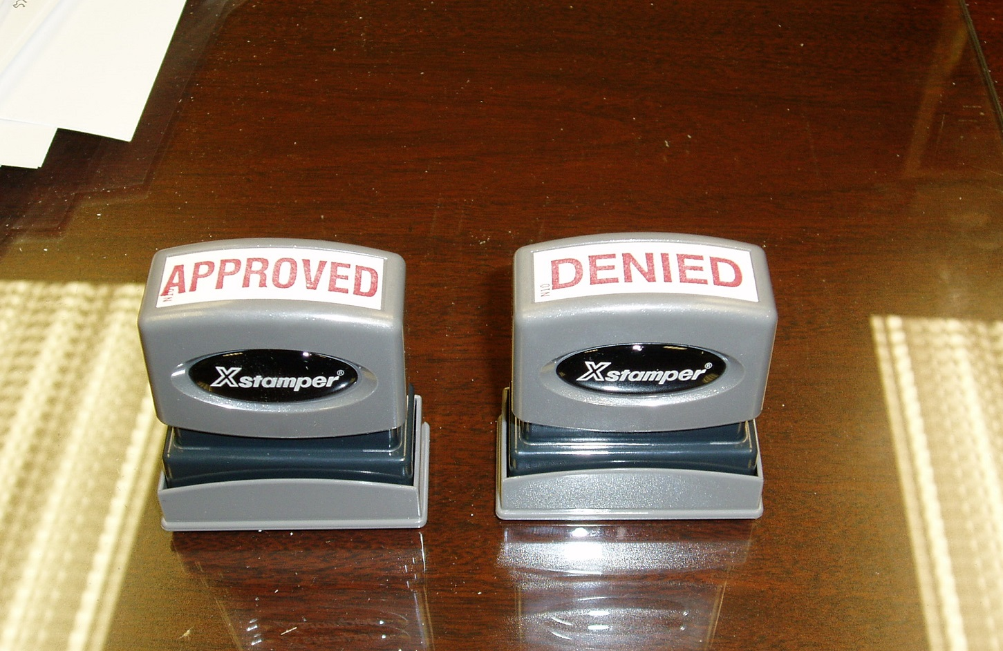 approved denied stamp