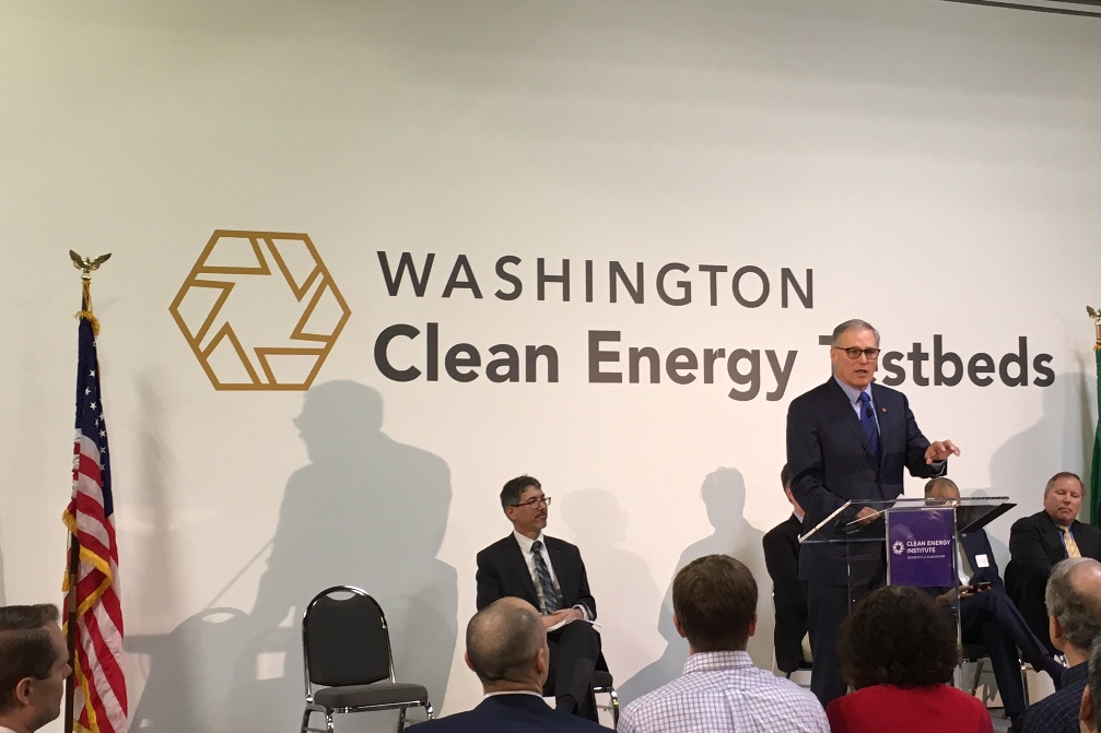 Inslee at Washington CE Testbeds