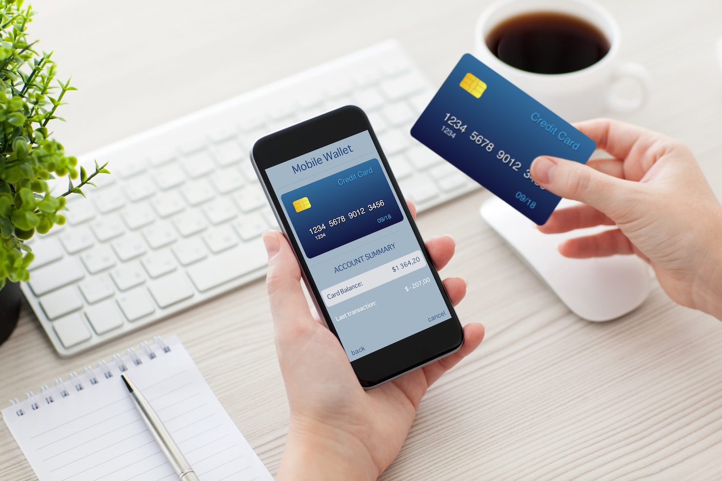 Mobile payments personal finance money stock image