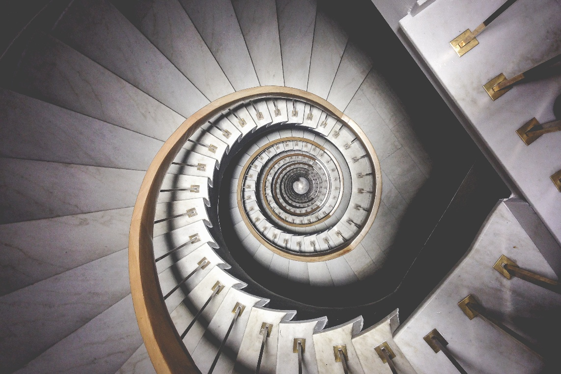 Spiral stairs via Unsplash