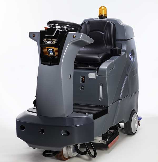 Brain Corp.'s self-driving floor scrubber (Brain Corp. image used with permission)