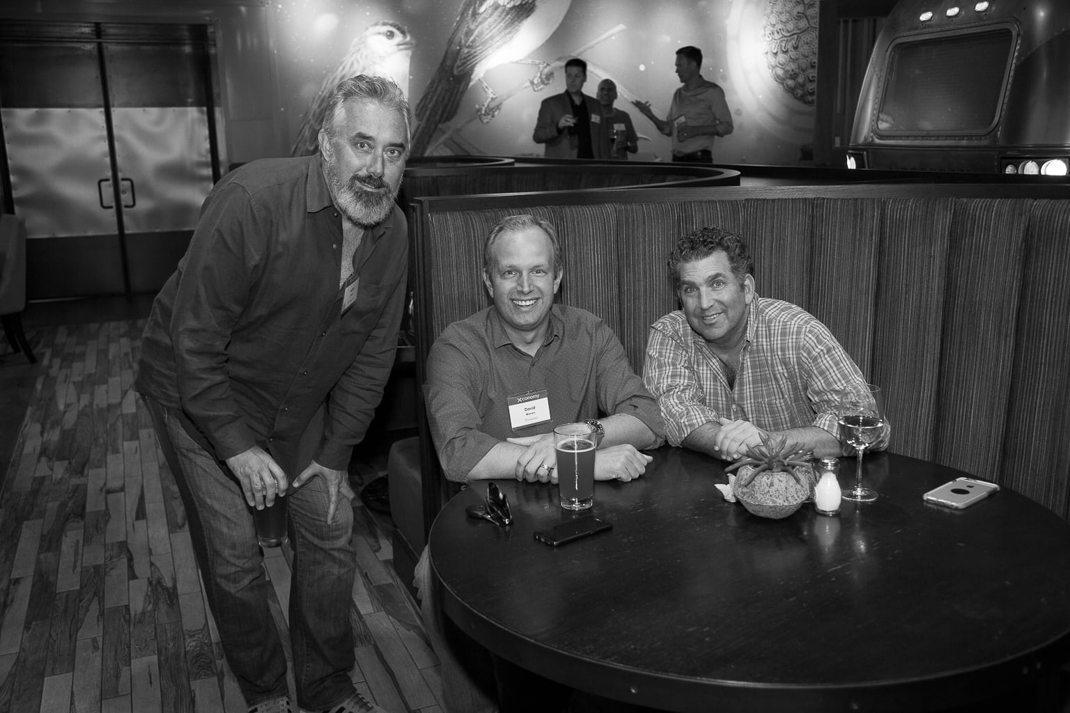 Patrick Giblin (left), David Warren, Craig Lauer