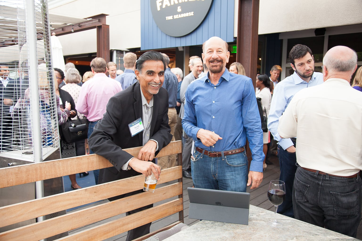Devang Thakkar (left) and John Mattison