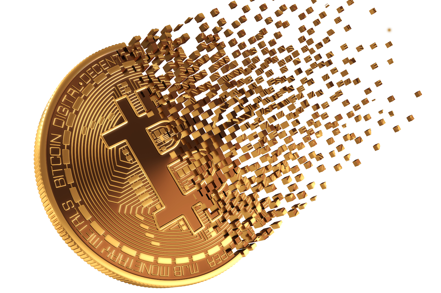 Bitcoin cryptocurrency stock image