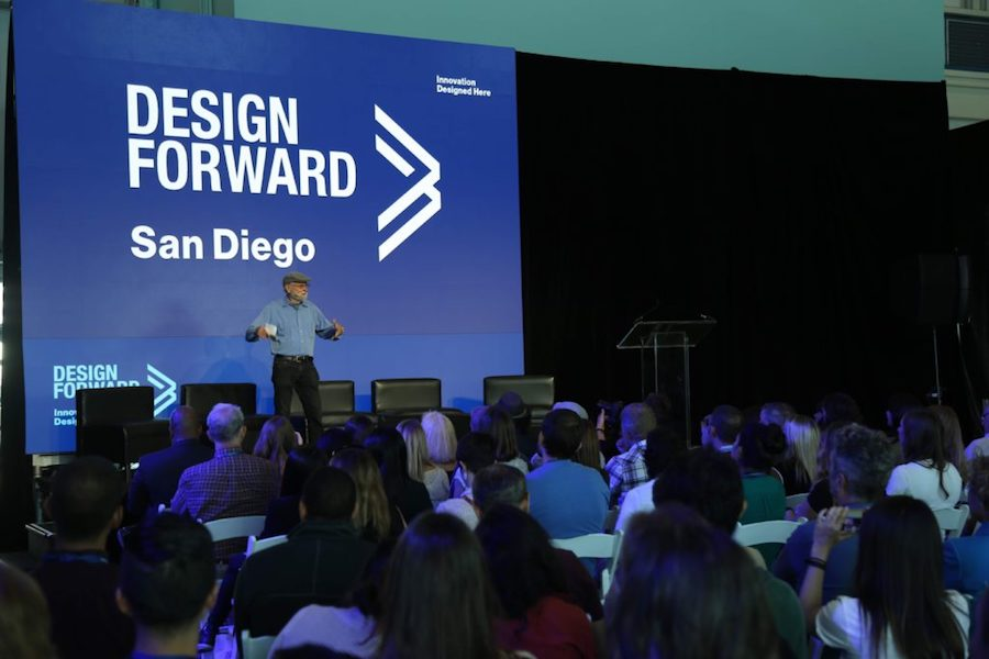 Don Norman speaks at 2016 Design Forward Summit (UCSD Design Lab photo used with permission)