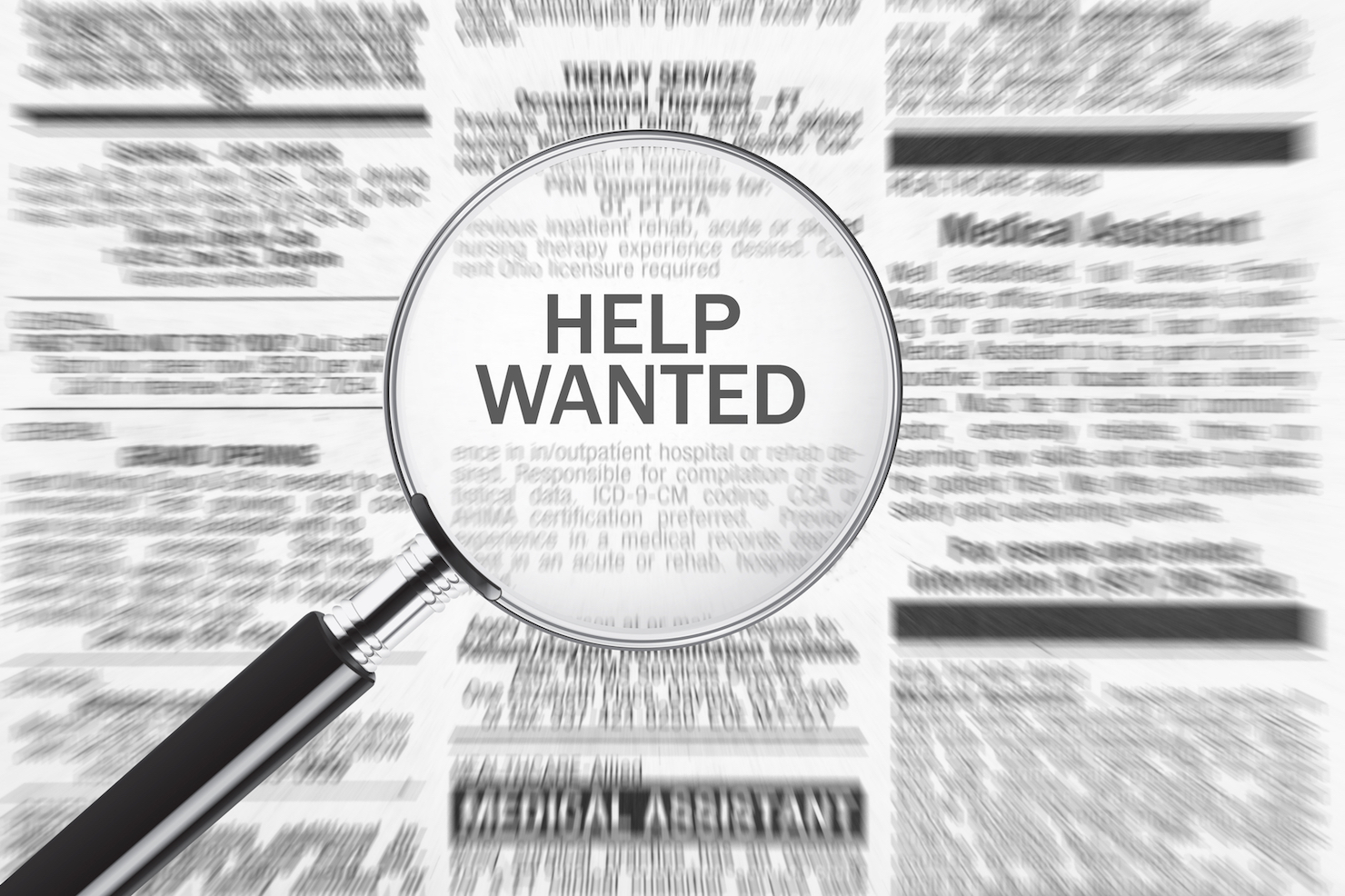 Help wanted, jobs stock image