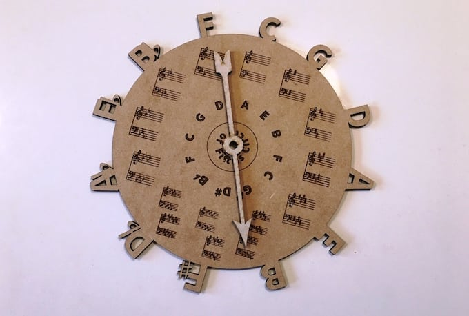Circle of Fifths (made with Glowforge)
