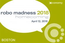 "Announcing ""Robo Madness 2018: Homecoming"" at iRobot on April 12"