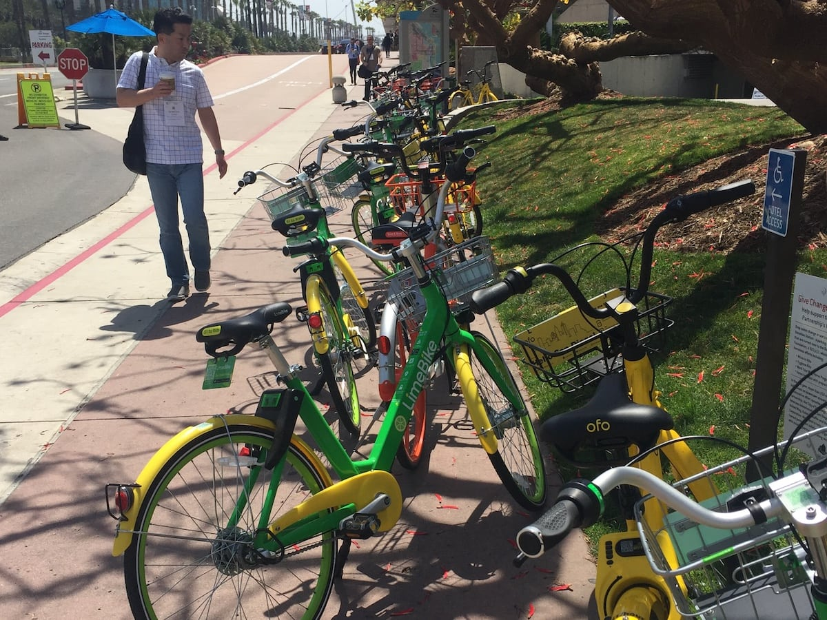 Dockless Bikeshare Bikes in San Diego (BVBigelow photo)