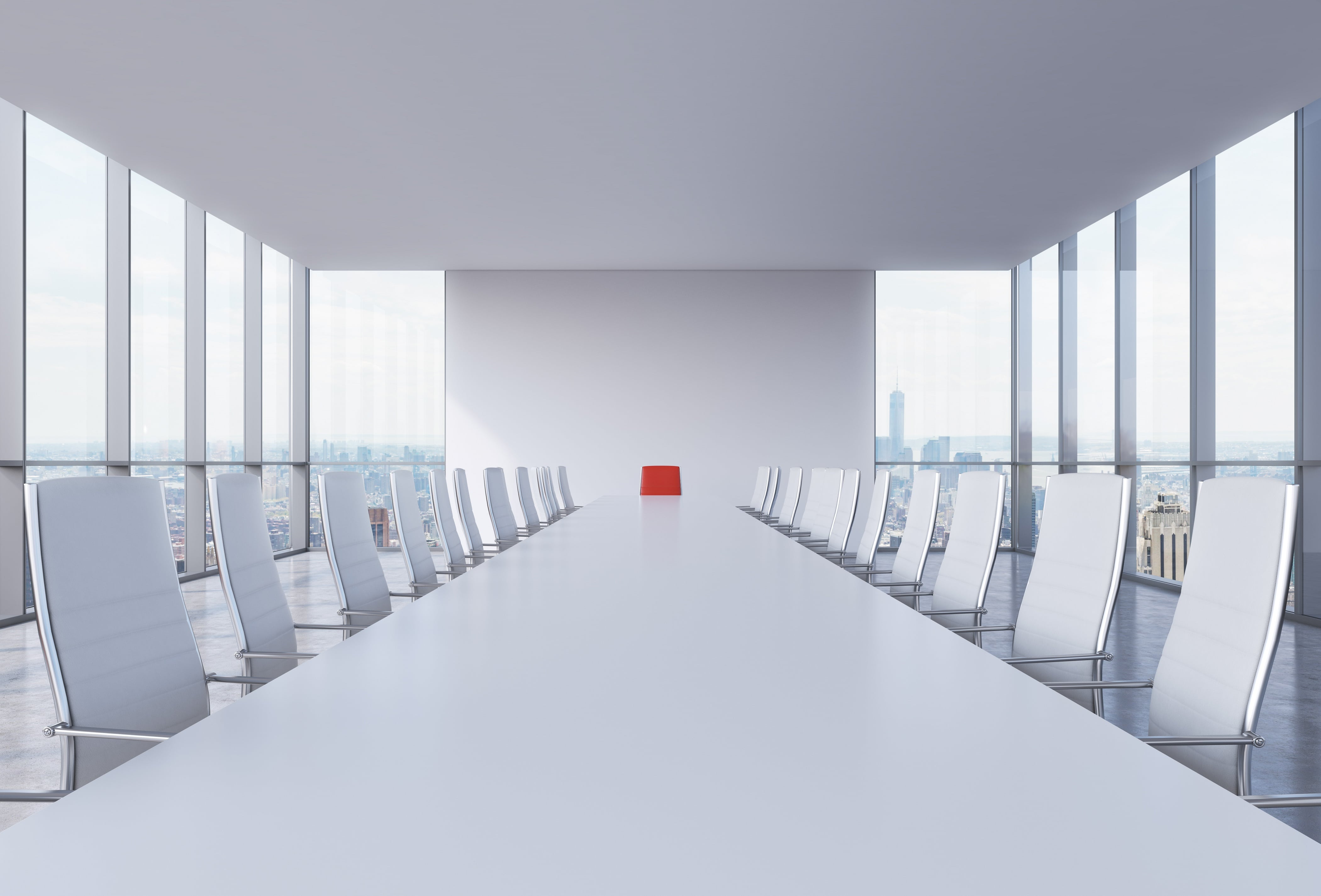 CEO seat in conference room