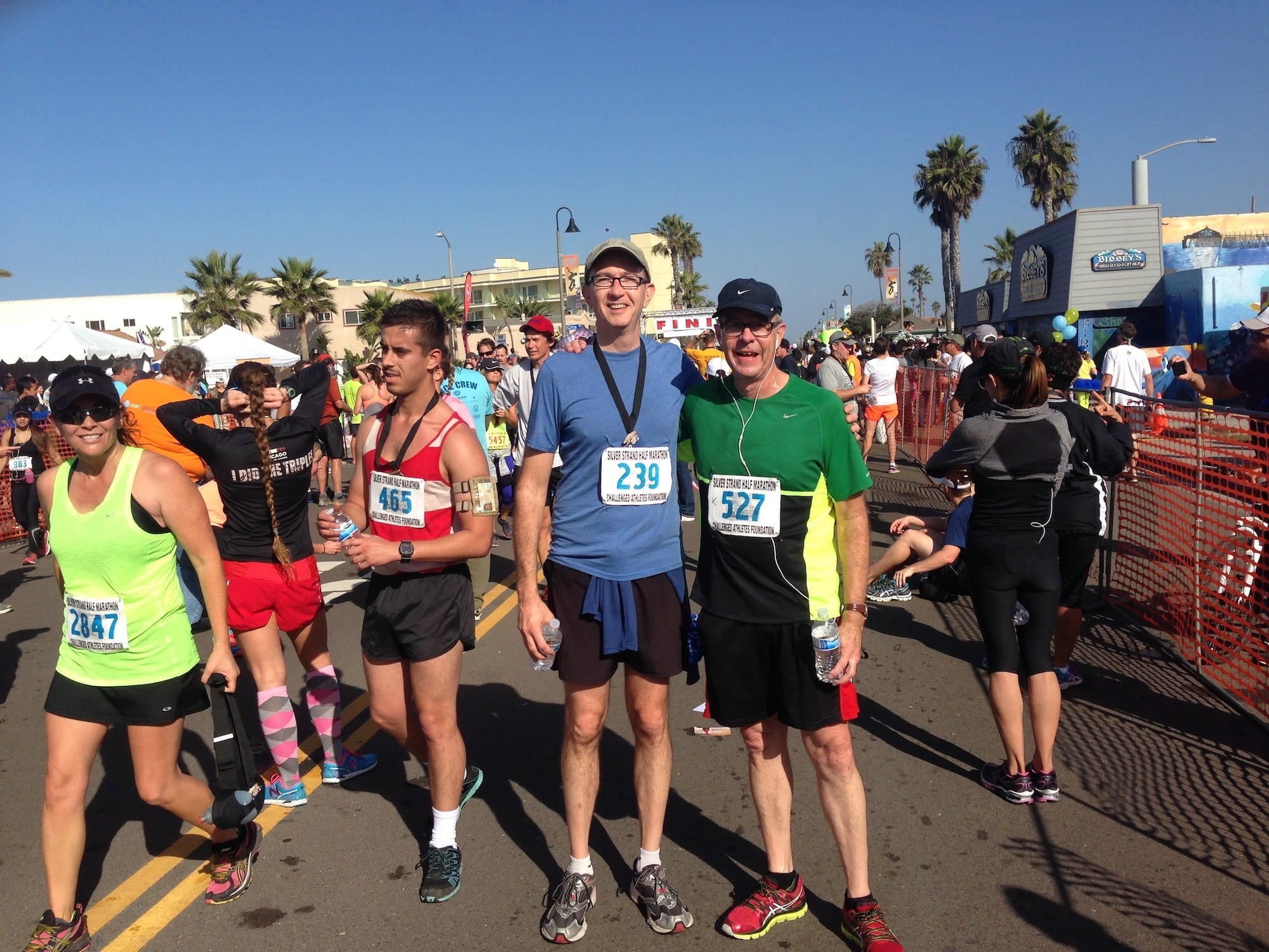 Running the Silver Strand Half Marathon (2013) with Wade Roush.