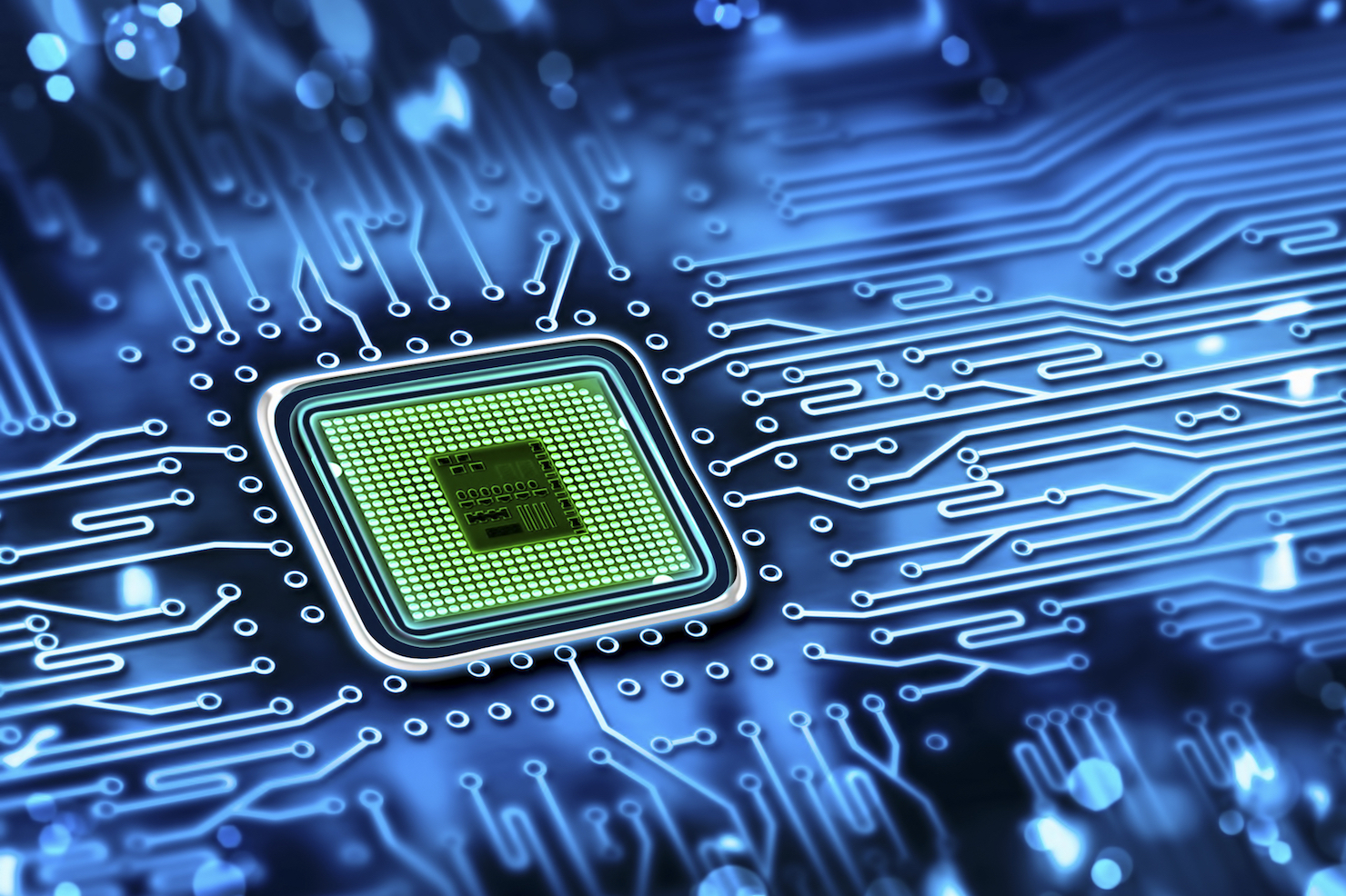 Computer chip, semiconductor stock image