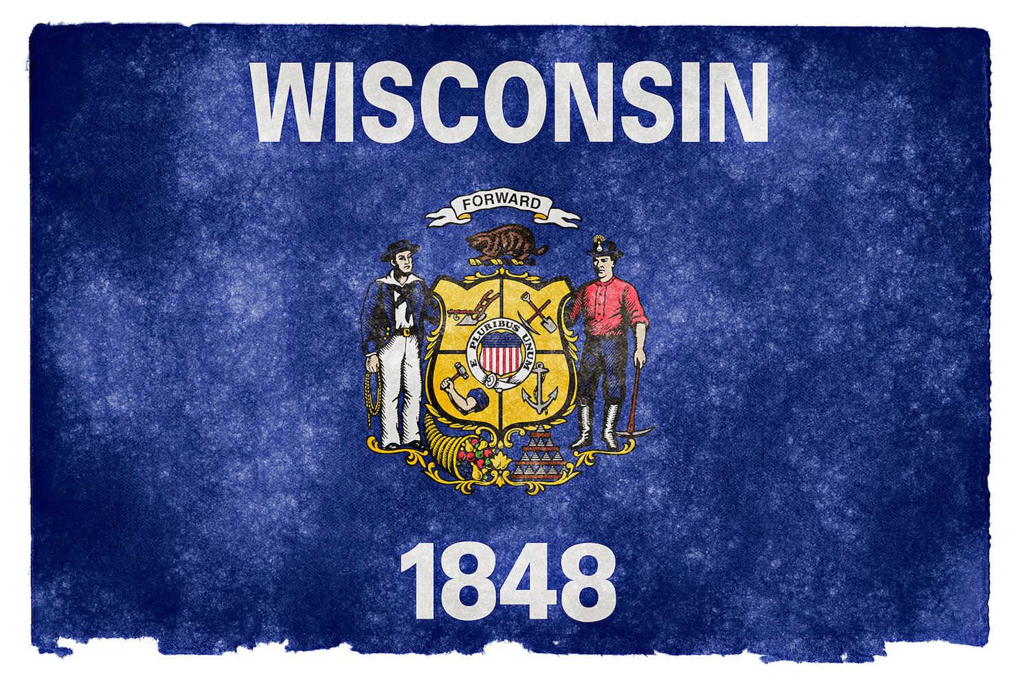 Wisconsin flag stock image