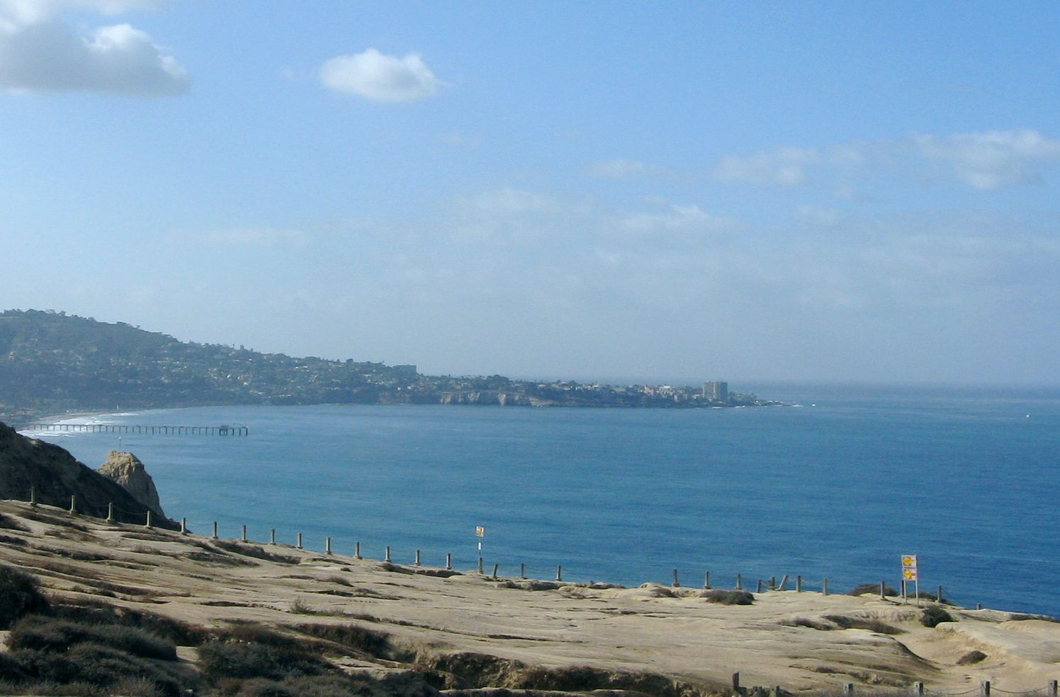 View from Torrey Pines Gliderport in La Jolla