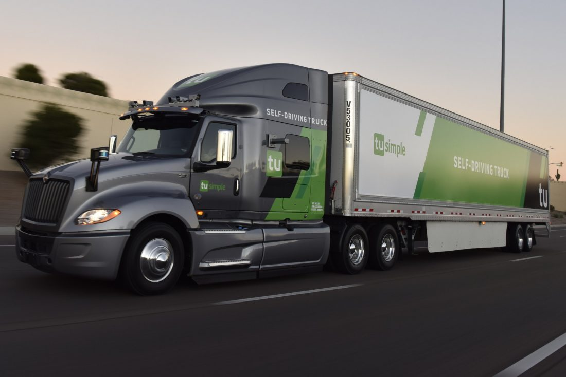 Autonomous Truck Company TuSimple Adds $95M to Rev Up Commercial Fleet