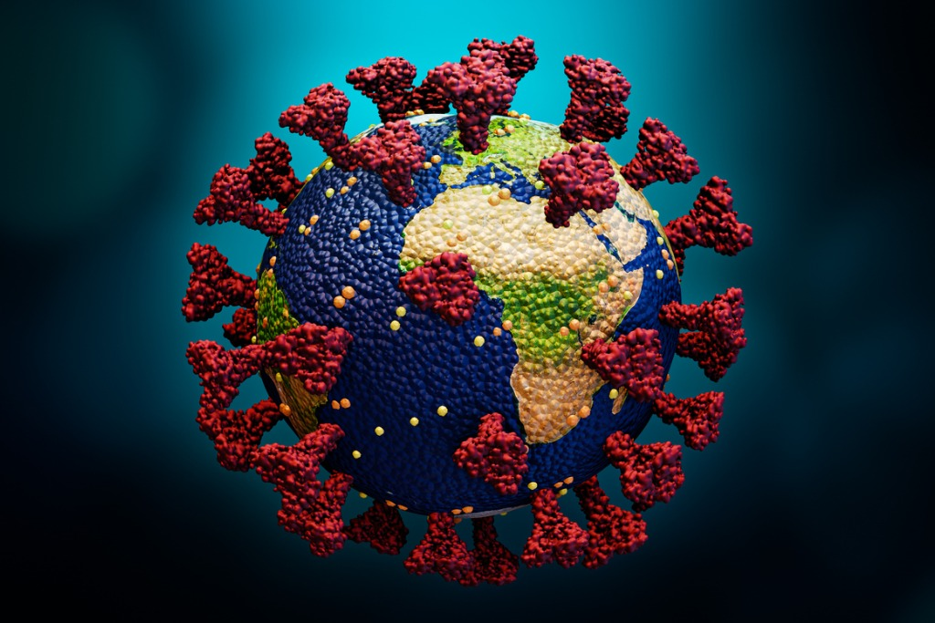 planet-earth-as-a-coronavirus-or-sars-covid-cell-3d-rendering-or-picture-id1218821819